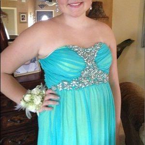 Blue prom dress, LIKE NEW